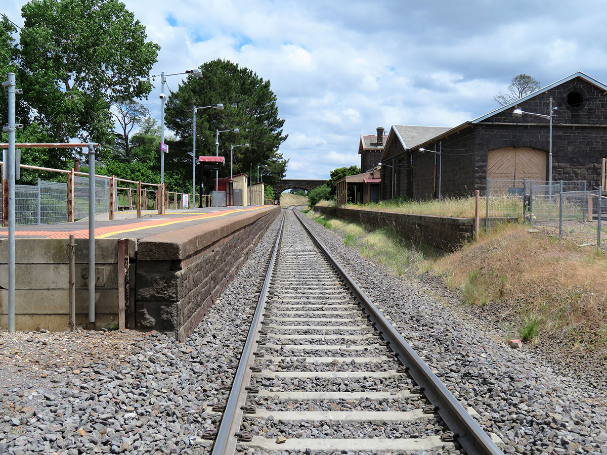 Country outback railway