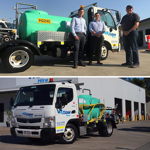 Celebrating the partnership between Rapid Spray and H2flow Hire