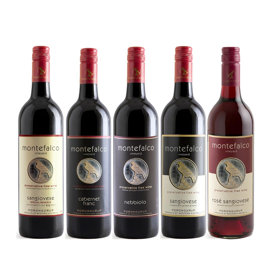 Montefalco wine labels