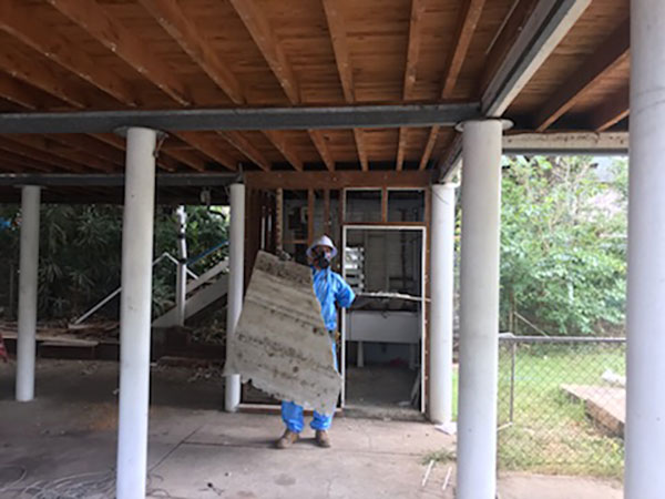 Relient-Civil-Removal-of-Asbestos-Sheeting-from-underhouse-Brisbane
