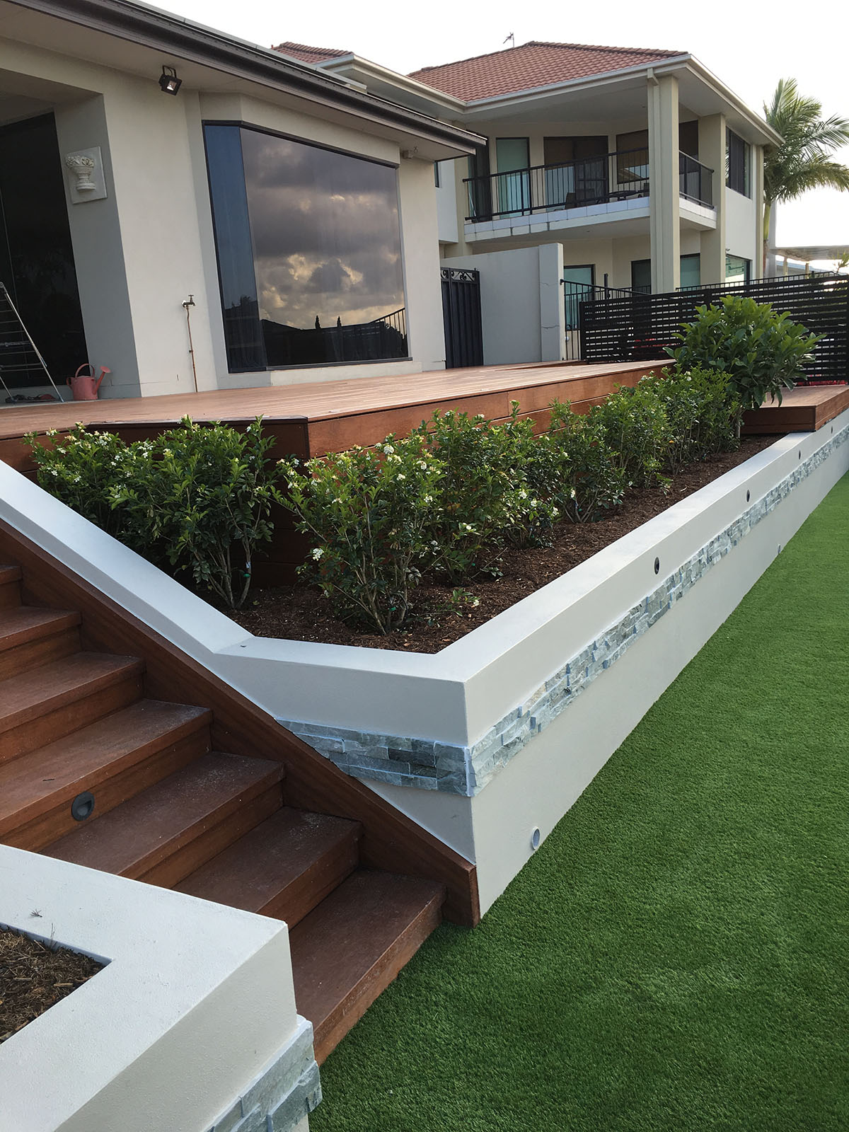 Rendered Brick Retaining Wall Gold Coast