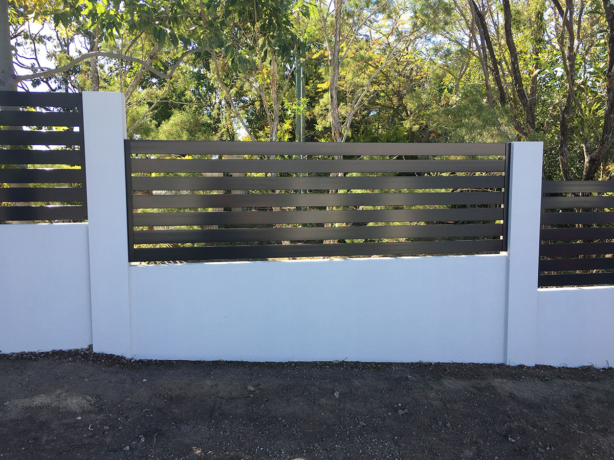 Rendered Front Fence Gold Coast