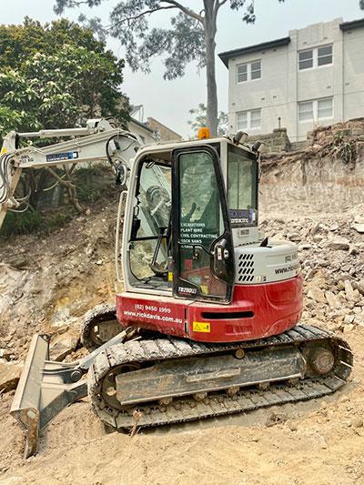 Rick Davis Contracting Compactor Hire Sydney 9 Tonne Excavator
