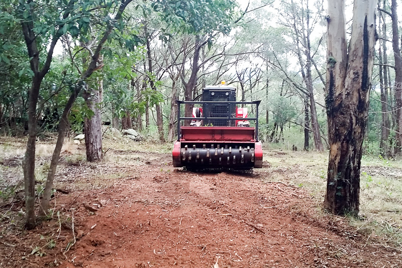 Sustainable Land Clearing Solutions mulcher in action