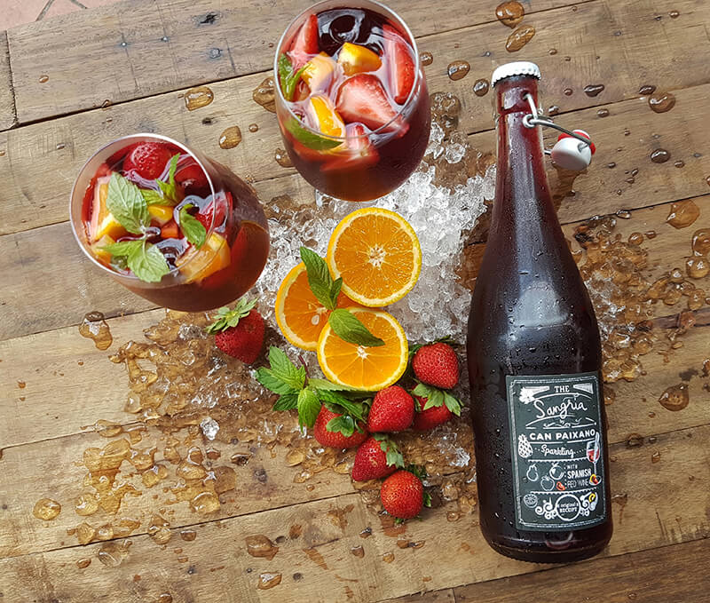 Can Paixano Sparkling Sangria in Singapore. Very fruity, very fresh, very tasty, very spanish. Must try in Bar.Celona