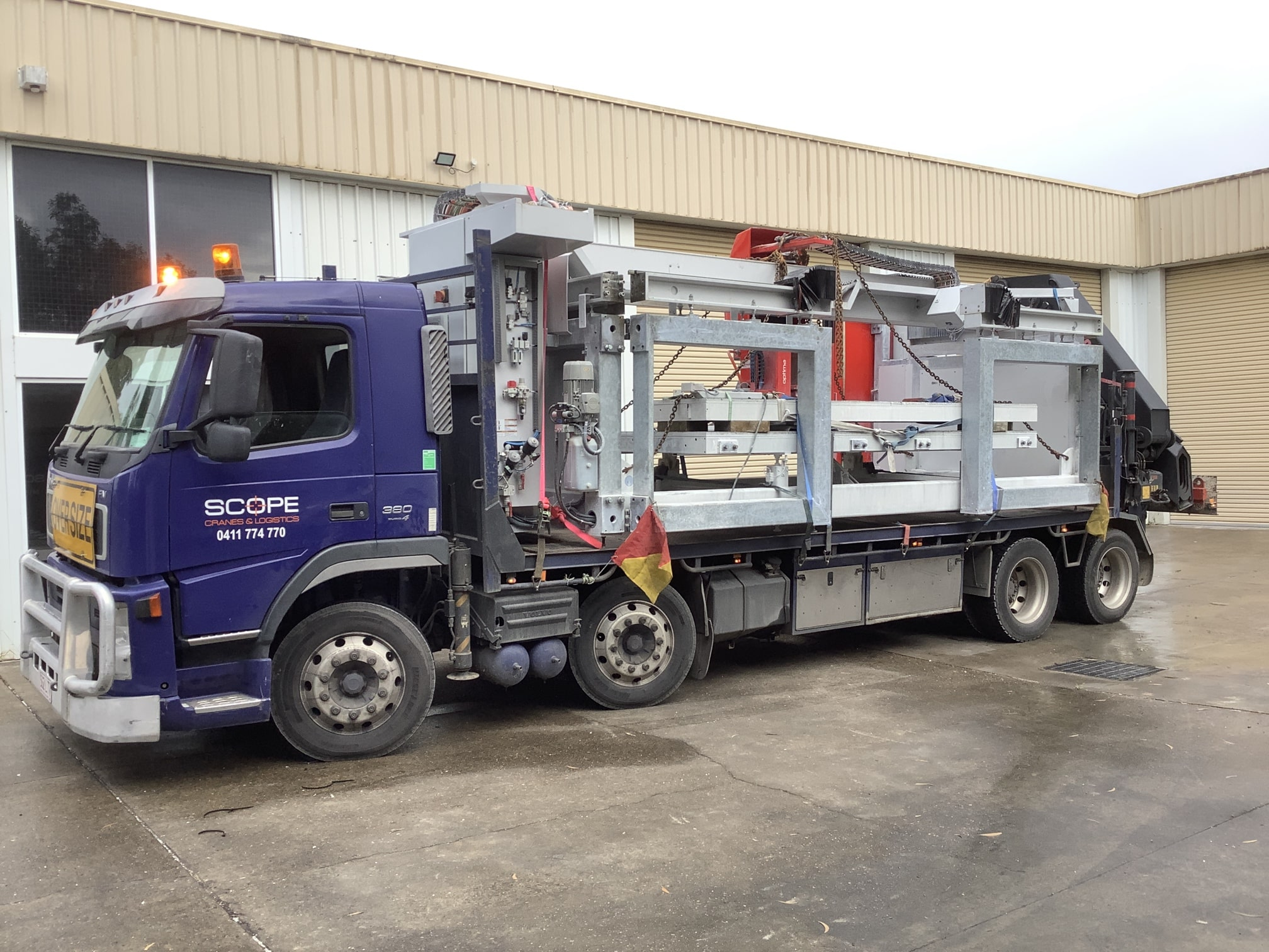 scopecranes hiring crane truck hire move stone bench saw