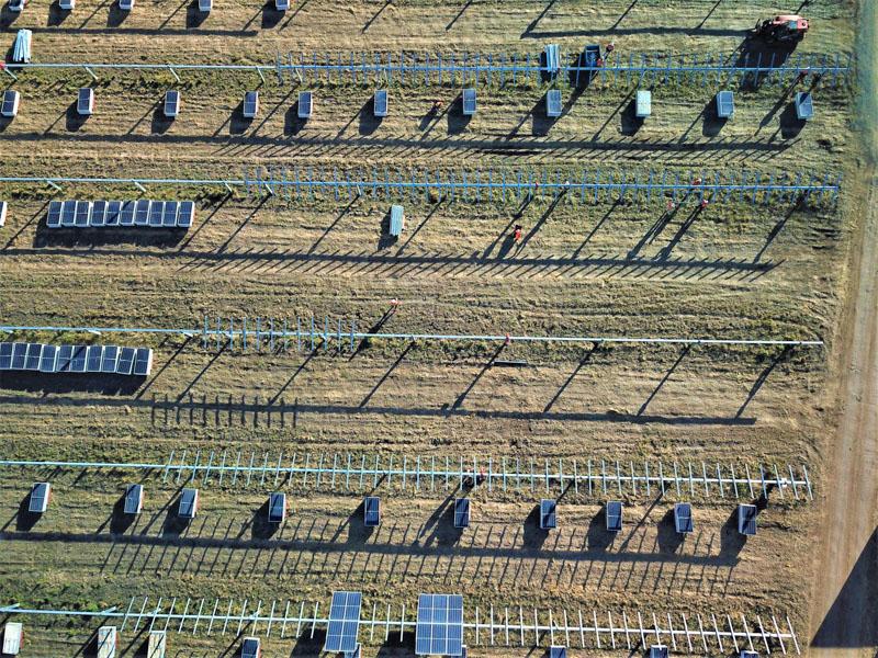 Solar farm repair