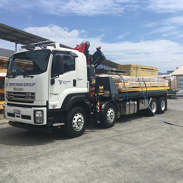 Spectran-Group-Flatbed-Truck-materials-haulage-Hobart