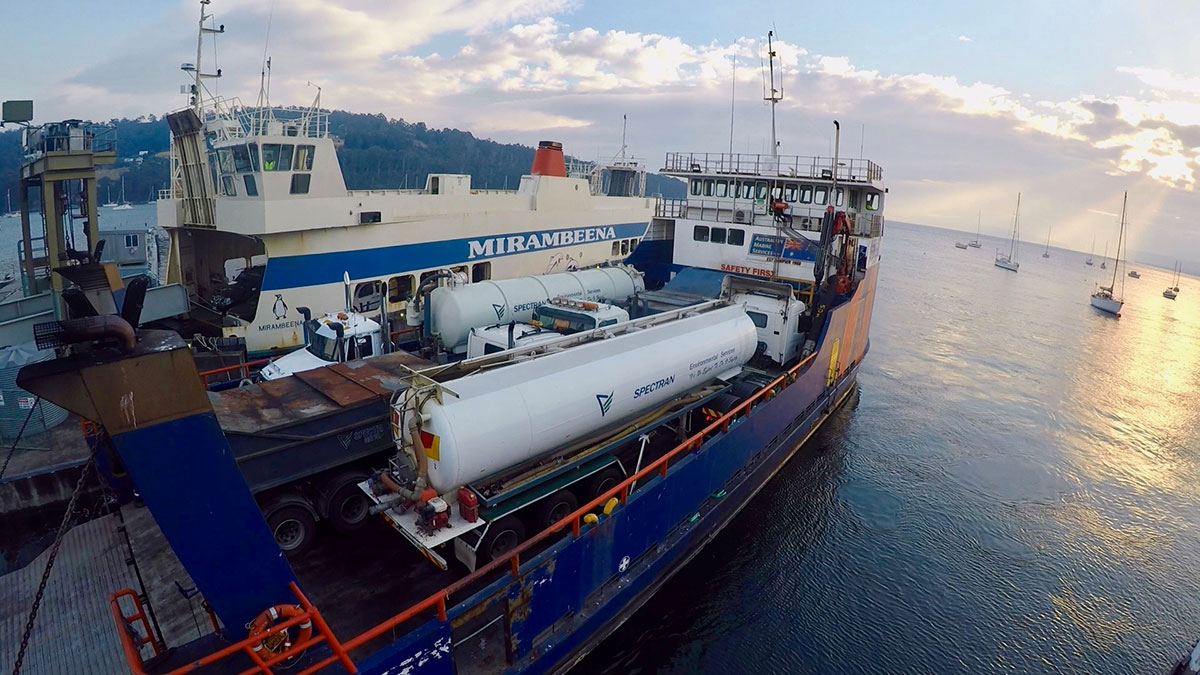 Spectran-Group-Liquid-Waste-Tankers-on-Ferry-Hobart