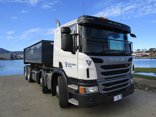 Spectran-Group-Skip-Bin-on-Truck-Hobart