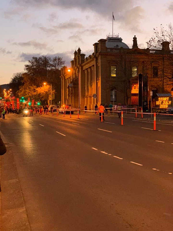 Spectran-Group-Temporary-Road-Block-for-Parade-Hobart