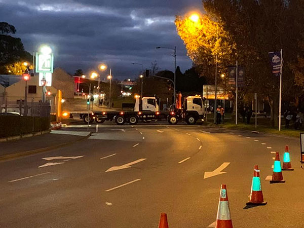 Spectran-Group-Truck-Road-Block-Hobart