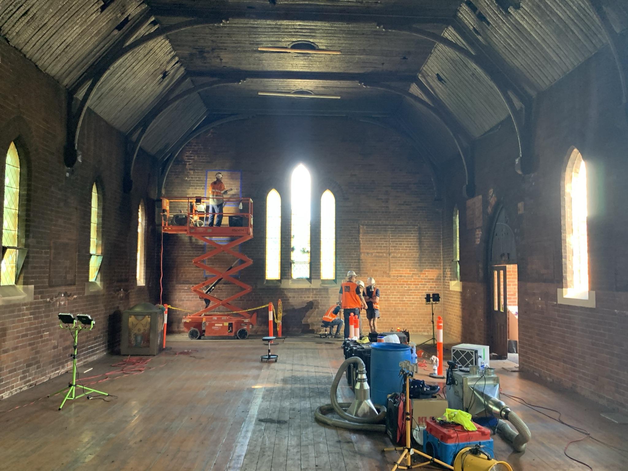 St Paul Coptic Orthodox Church fire damage restoration