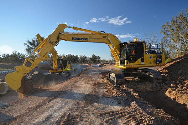 SubTerra-Roadwork Excavator-On-Site-2-Sydney