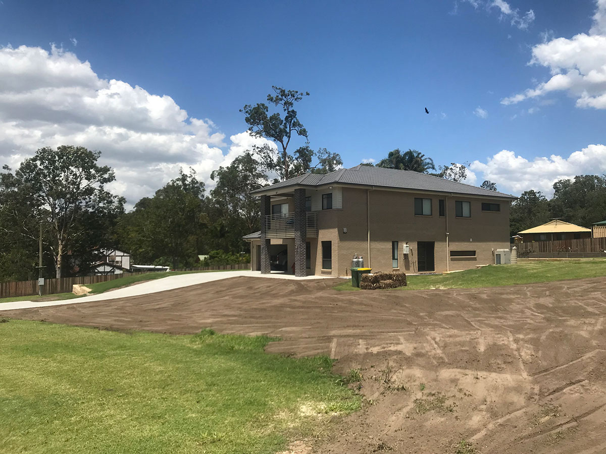 TPC Earthmoving House prepping for turf laying Sunnybank