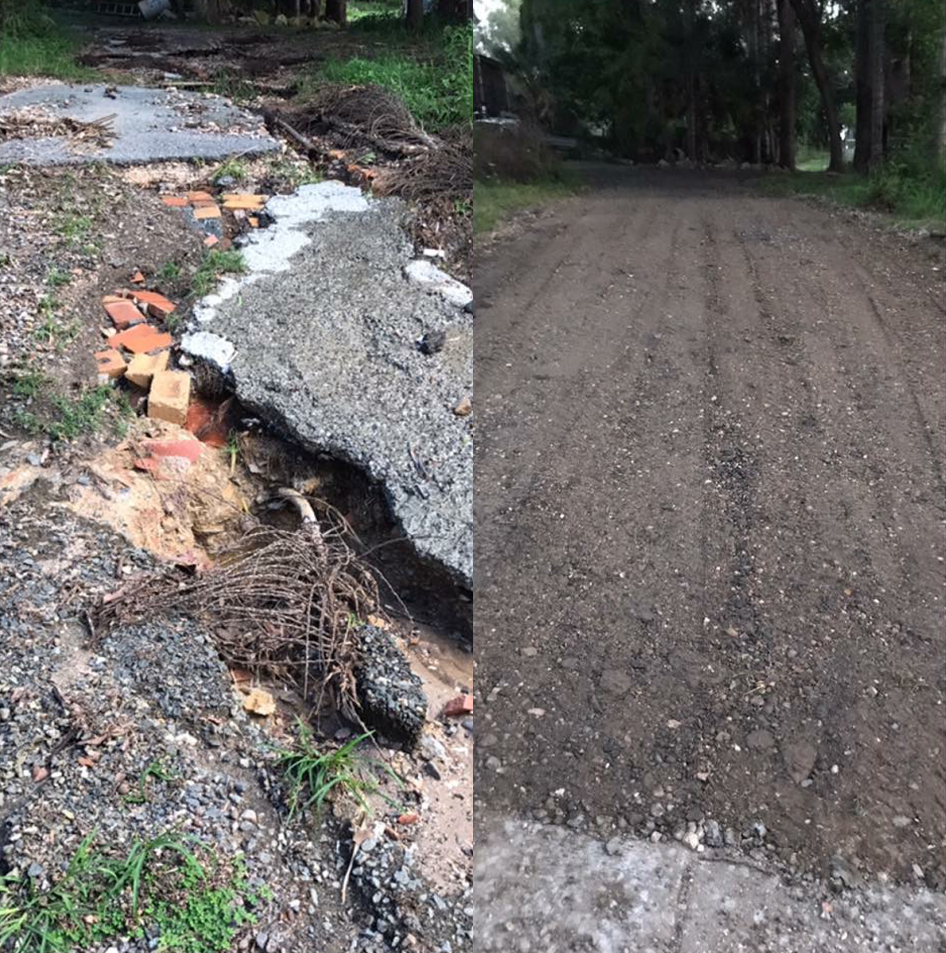 Off road access cleanup