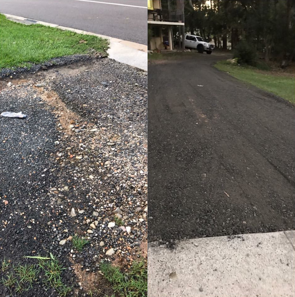 Old cobble driveway removed