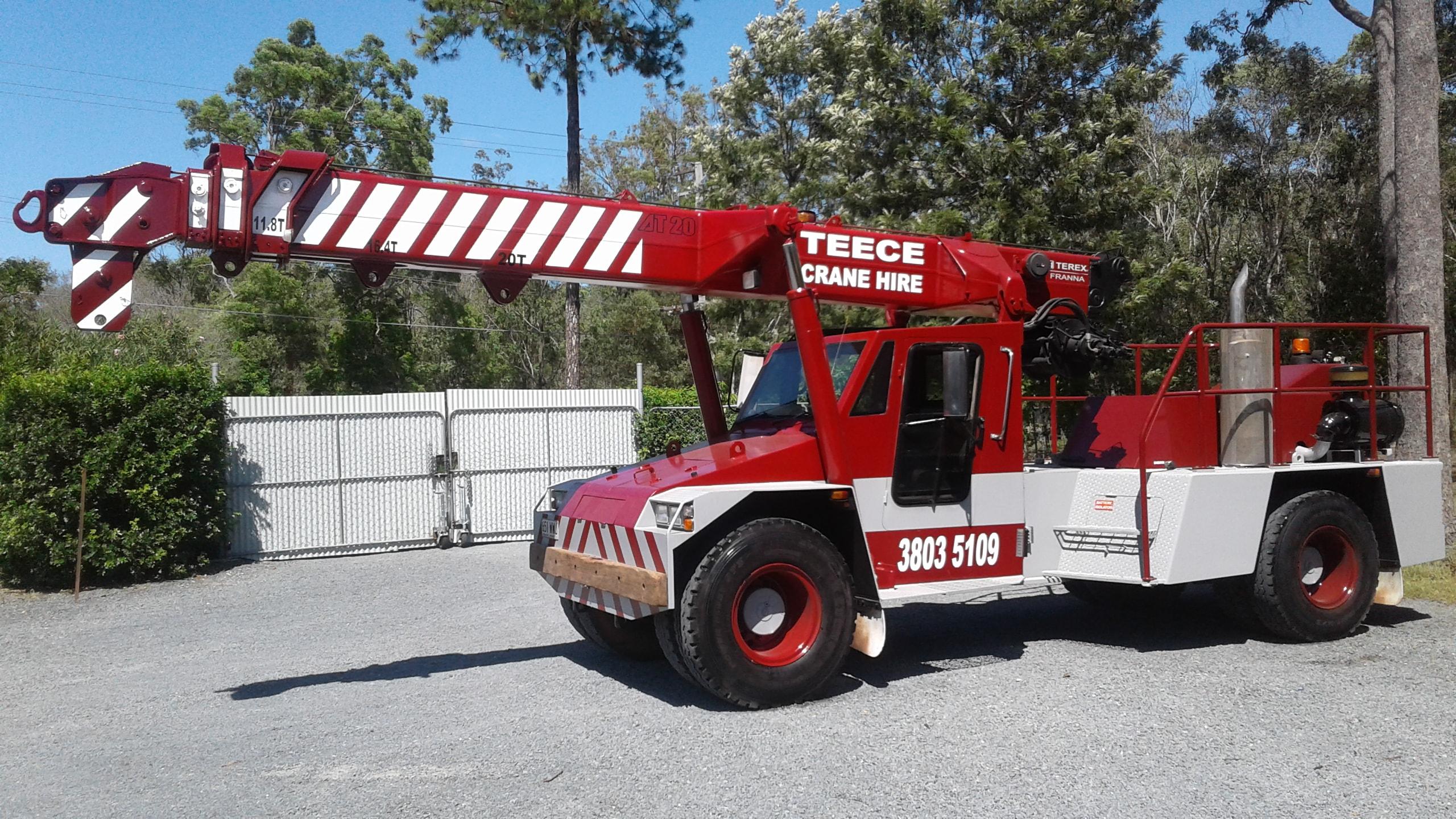 Teece Crane Hire - Franna And Mobile Crane Rental - Brisbane