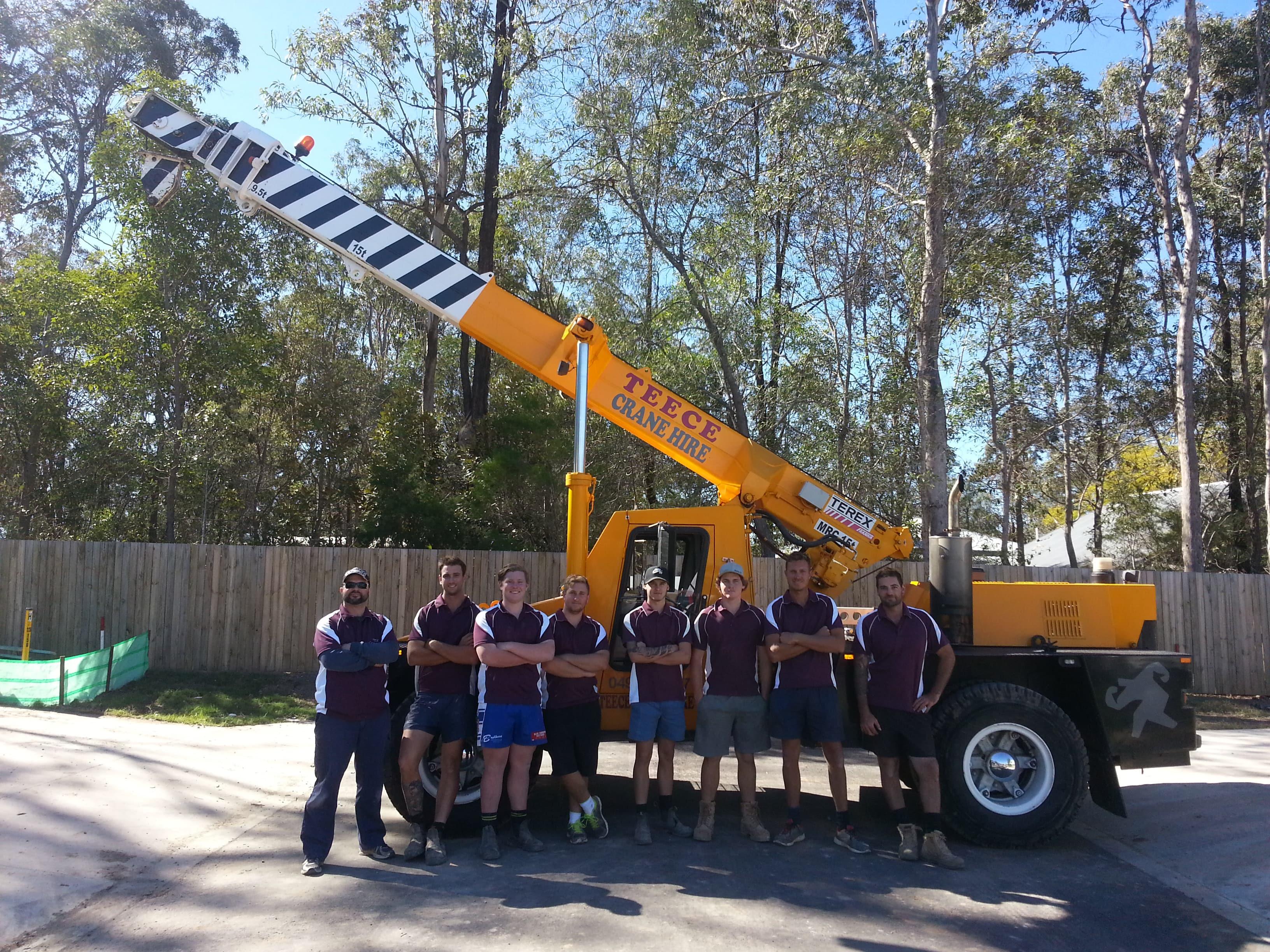 Teece Crane Hire - Franna Mobile Crane Hire - Brisbane