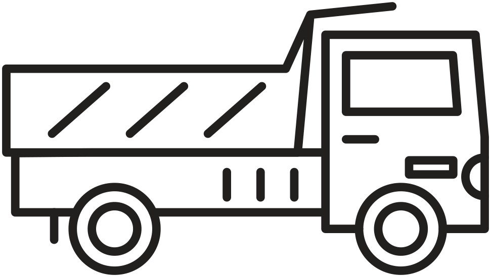 Rigid Rear Dump Truck Icon