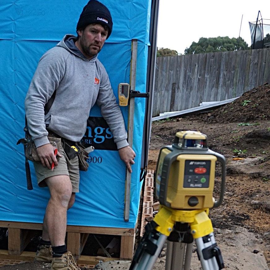 Matt and his new Topcon RL-H4C construction laser