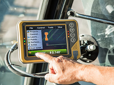 Topcon's newest control box touch screen