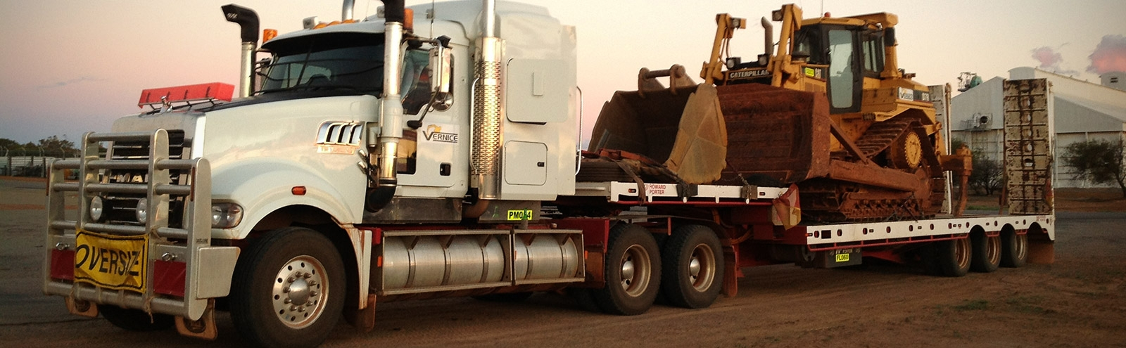 Truck Float with Dozer