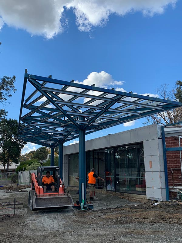 Truline-Engineering-Canopy-Frame-steel-erection-installation-melbourne