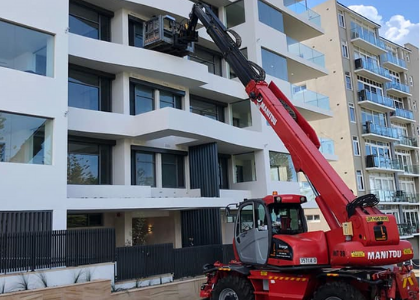 How telehandlers are used in construction