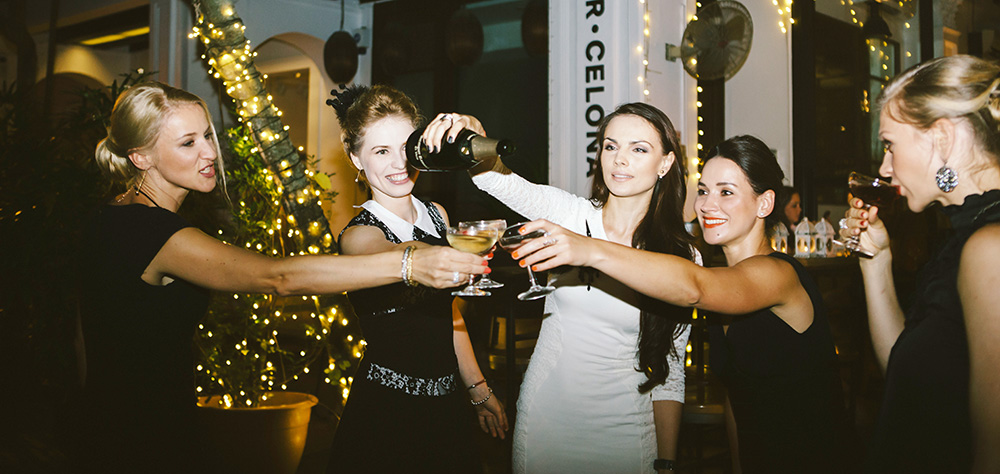 Every 4 ladies got a free bottle of CAVA on a table every Wednesday. Ladies night out!