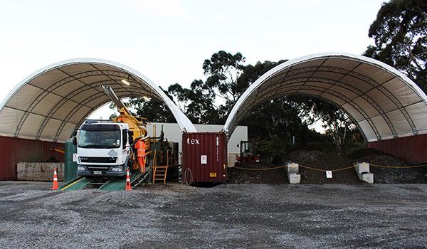 Vac U Digga Vacuum Truck in storage shed