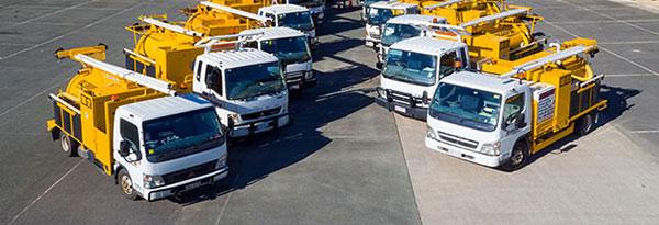 Vacuum excavator trucks for hire Ormeau VAC Group