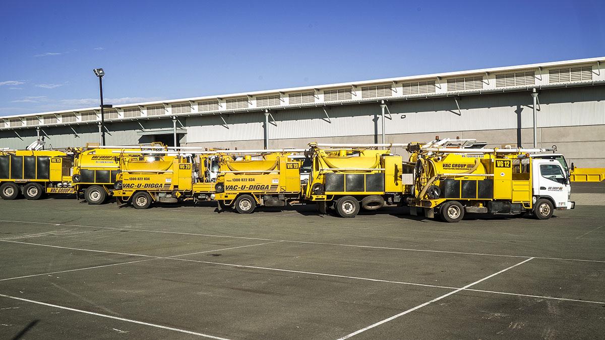 Sucker trucks for hire. Vac-U-Digga