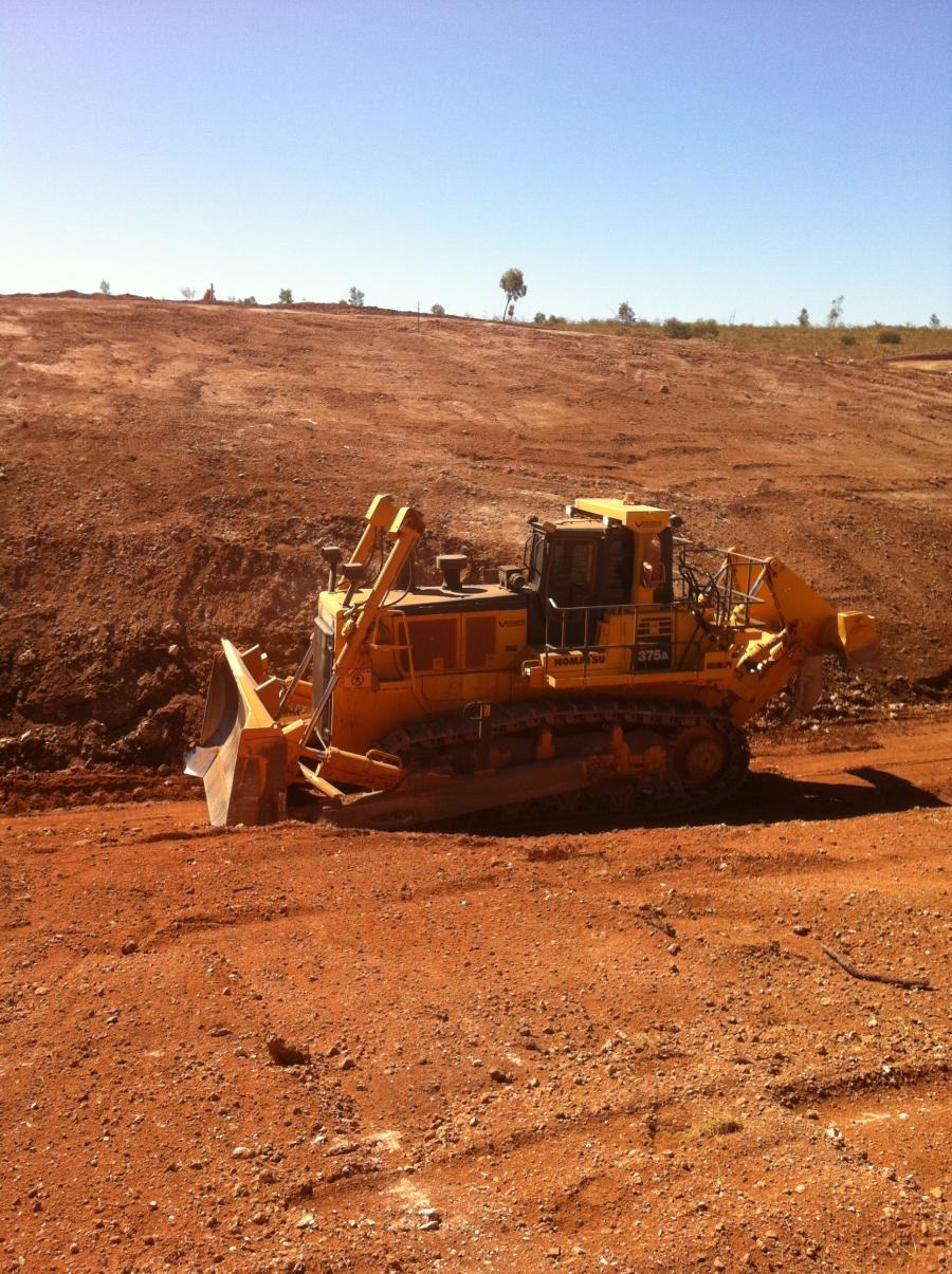 Vernice Dozer on site