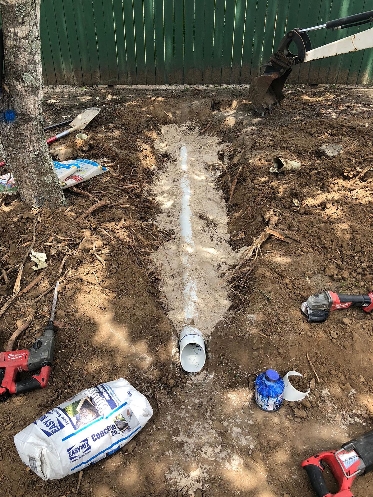 WJS plumbing Pipe Laying