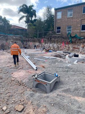 wjs drive way rubble drain