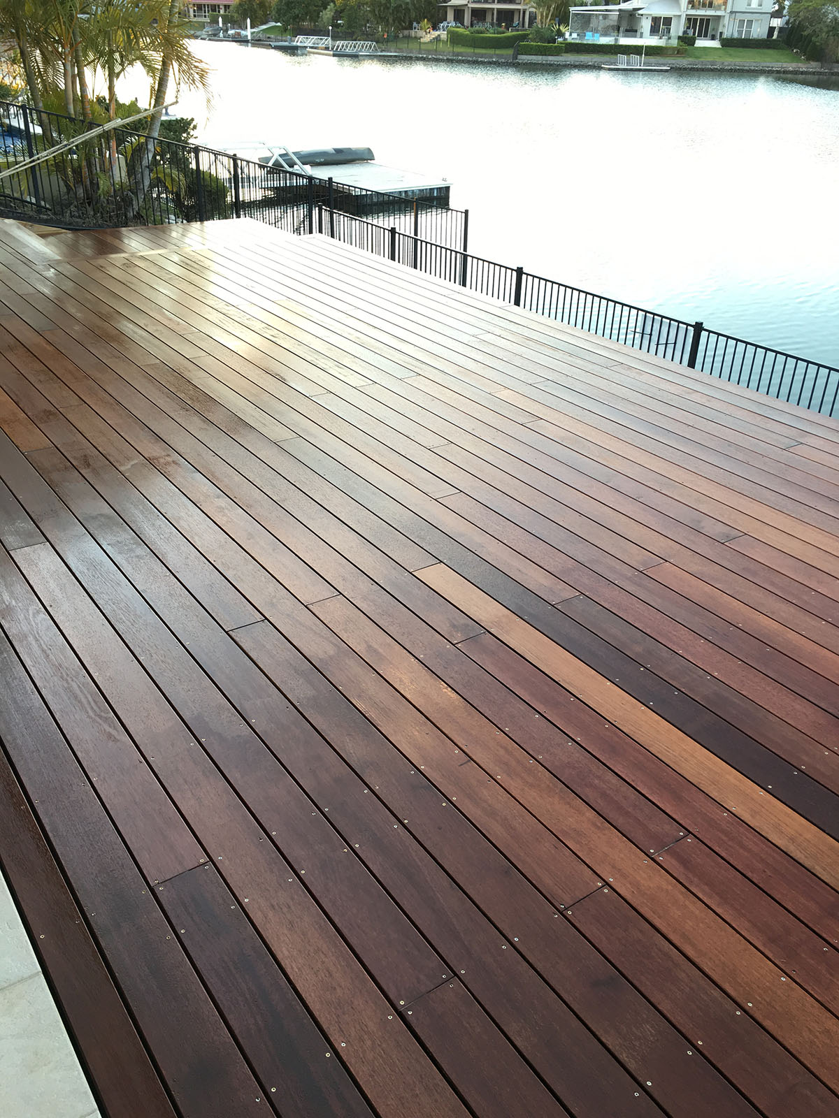 Timber waterfront deck builder