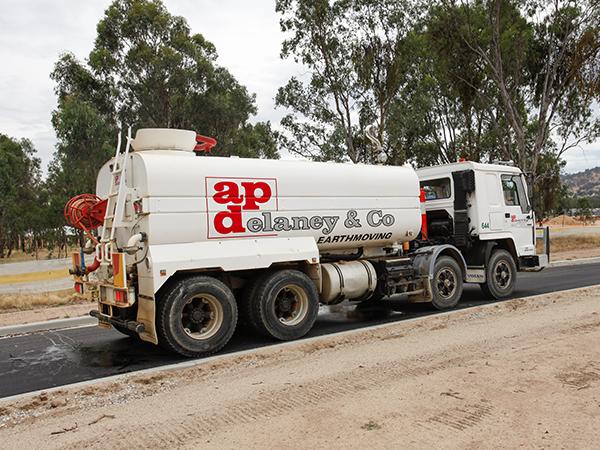 A-P-Delaney-Fleet-On-Site-Dozer-water-truck-hire-albury
