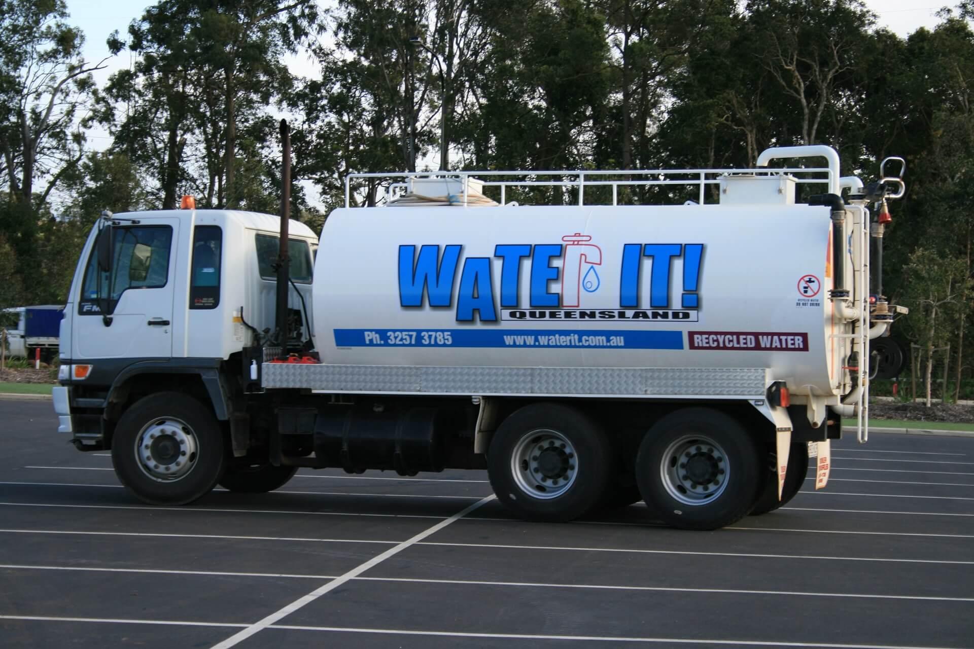 Water It Truck side view