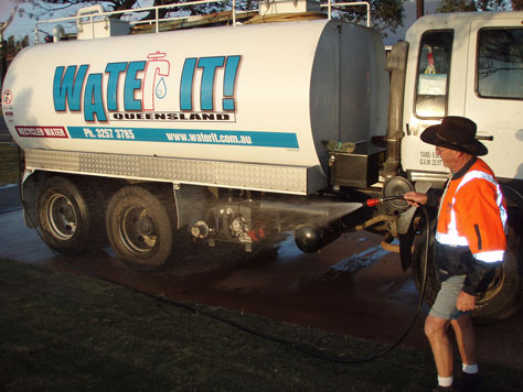 Water It truck with operator