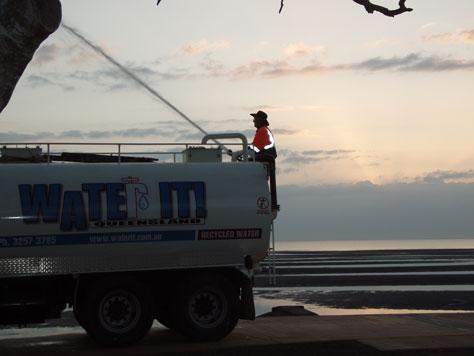 Water It truck water on beach