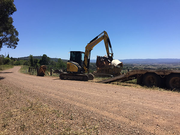 Weber-Excavations-float-transport-excavator-hire-driveway-construction-kerry