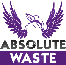 absolute waste logo