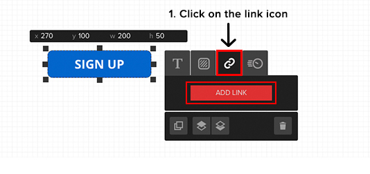 adding link to button 1