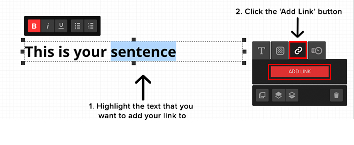 adding link to text 1