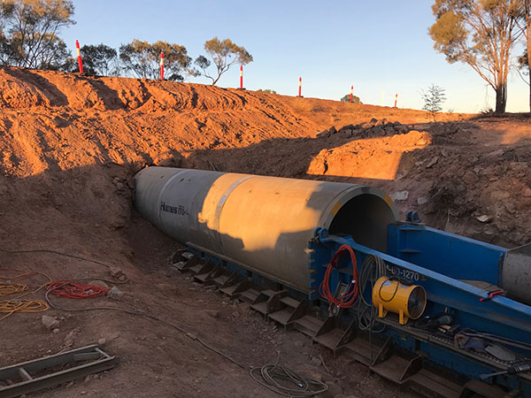 AHA Boring Laser-Guided Tunnelling and Concrete Culvert Installation
