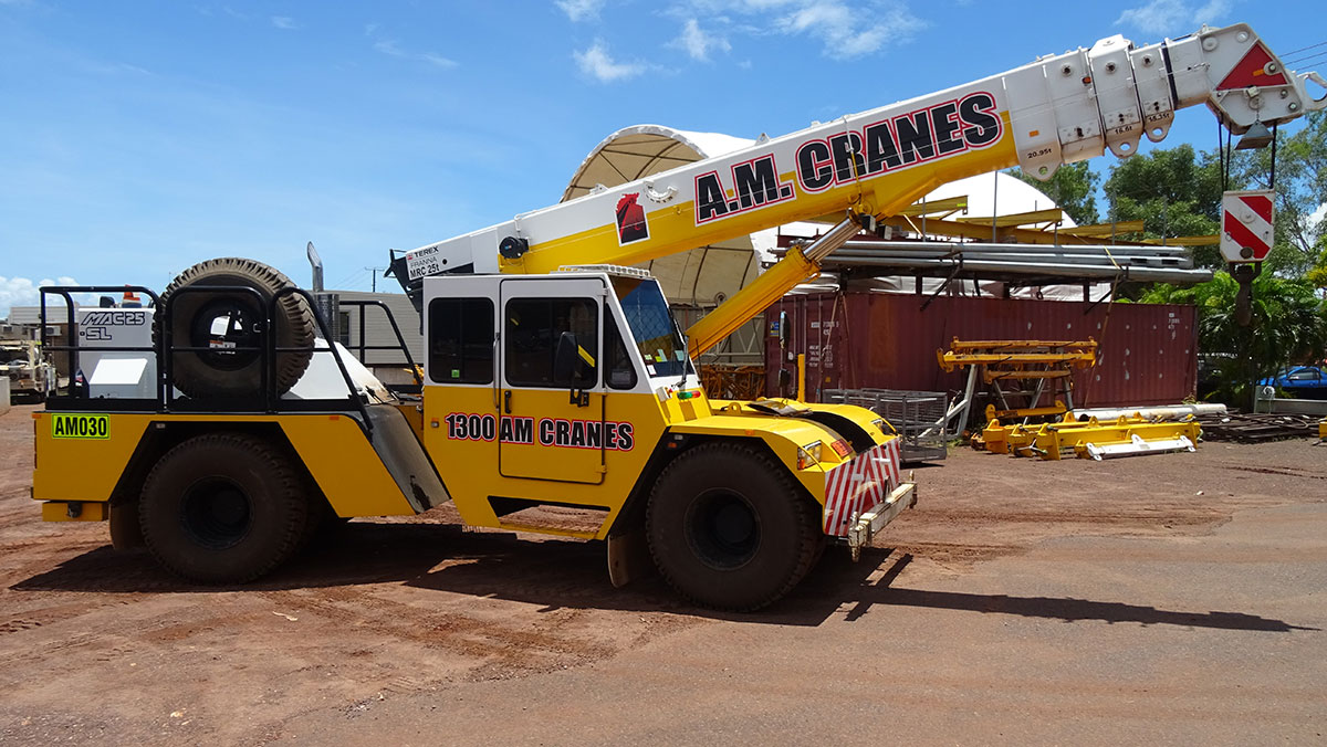 A.M. Cranes and Rigging franna crane hire