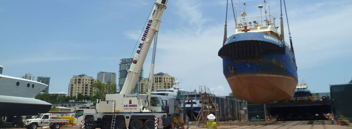 A.M. Cranes and Rigging lifting boat and labour hire