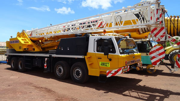 A.M. Cranes and Rigging 60 tonne truck mounted crane hire Kingaroy