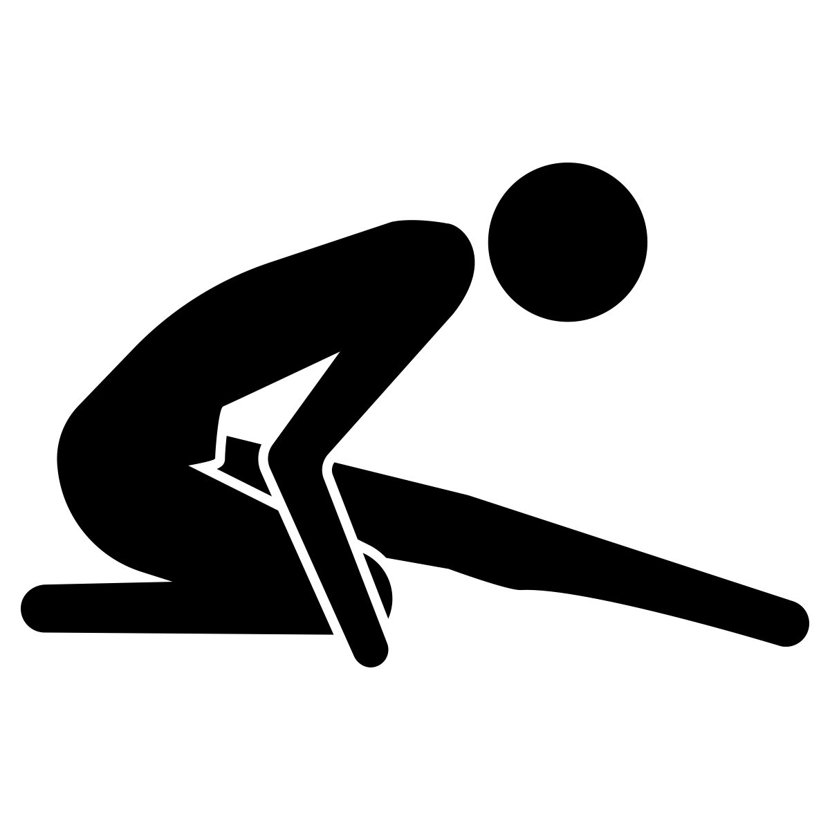 runner stretching icon